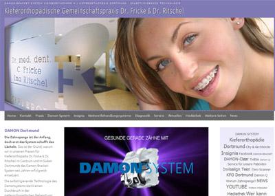 Neue Website www.damon-bracket-dortmund.de